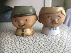 Pottery egg cups