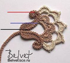 Crochet Bolero Pattern, Irish Crochet Patterns, Crochet Motifs, Freeform Crochet, Thread Crochet, Crochet Designs, Crochet Crafts, Knit Crochet, Diy Crafts