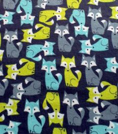 Snuggle Flannel Fabric- Foxes TurquoiseSnuggle Flannel Fabric- Foxes Turquoise, -JoAnns