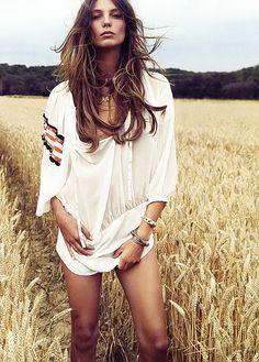 Daria Werbowy by Inez & Vinoodh In The Girl Of The Golden Field!