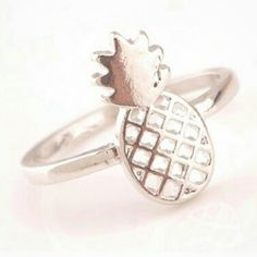 Coming soon! Silver Rhinestone pineapple ring Metal-copper Diameter-1.7 cm One size Jewelry Rings