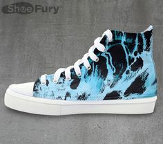 Godzilla Invades Your Feet With These Rising Tide Hi-Tops