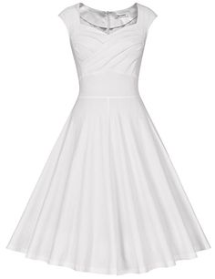 MUXXN Damen Retro 1950er Kleider Swing Kleid Vintage Rockabilly Kleid  Partykleid Cocktailkleid  Amazon.de 0ecb231d62