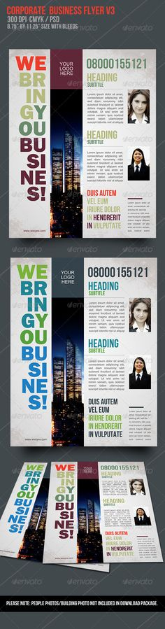 Print Templates - Corporate Business Flyer V3 | GraphicRiver