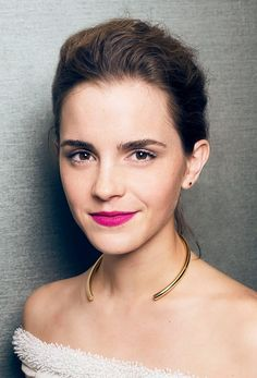 Emma Watson's pink pout is everything