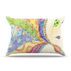 """Catherine Holcombe """"The Painted Quilt"""" Pillow Case 