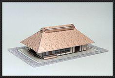 Tomioka Wako Japanese House Free Building Paper Model Download