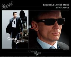 Persol for James Bond. Got em. Got the poster thrown in for free! Celebrity Sunglasses, Mens Sunglasses, James Bond, Persol, Casino Royale, Celebs, Celebrities, Eyeglasses, Image Search