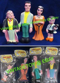 1964 MUNSTERS Rubber Dolls ALL 4 SEALED Mint in Pack! #Munsters