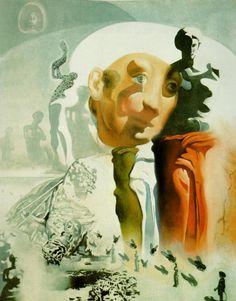 La Cara, 1972, óleo por Salvador Dali