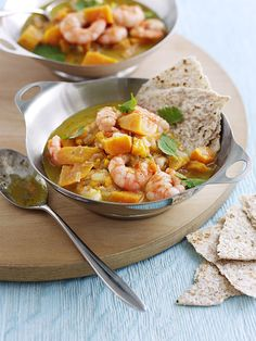 Jamaican prawn and sweet potato curry