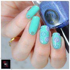 Turquoise & bleu - Nail Art Stamping Master - %%type%% %%cat%% par Love Nails Etc