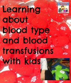 Blood Types activity for kids - Adventures in Mommydom