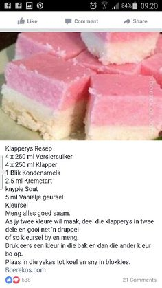 Klapperys Fudge Recipes, Candy Recipes, Sweet Recipes, Baking Recipes, Cookie Recipes, Dessert Recipes, Tart Recipes, Yummy Recipes, Recipies