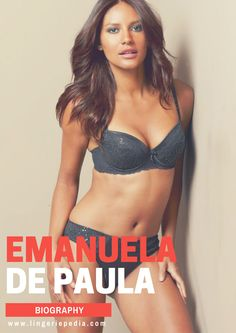 Emanuela de Paula (born 25 April 1989 in Cabo de Santo Agostinho, Pernambuco, Brazil) is a Brazilian model.  #fashion #style #lingerie