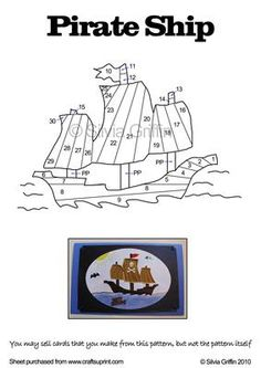 Pirate Ship on Craftsuprint designed by Silvia Griffin - Perfect for those adventerous little boys in your live. Hope you enjoy making this pattern. Thank you for looking. - Now available for download!