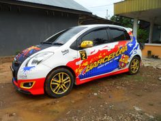 Sticker Mobil Sorong Toyota Yaris Bacelona#TribalGraphics #CuttingSticker #3DCuttingSticker #Decals #Vinyls  #Stripping #StickerMobil #StickerMotor #StickerTruck #Wraps  #AcrilycSign #NeonBoxAcrilyc #ModifikasiMobil #ModifikasiMotor #StickerModifikasi  #Transad #Aimas #KabSorong #PapuaBarat