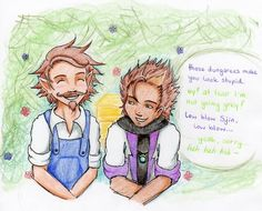 Sjin and Rythian.  I love seeing fanart of rythian smiling or joking around after the cold war.