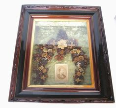 RARE Antique Patriotic Mourning Wreath President James Garfield w Photo Framed | eBay