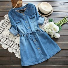 Want this denim dress? in 2020 Want this denim dress? in 2020 Denim Outfits, Teen Fashion Outfits, Mode Outfits, Denim Fashion, Trendy Outfits, Girl Fashion, Fashion Dresses, Denim Dresses, Fashion Women