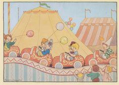 illustraties Babbertjesland(Zomerfeest) illustratie Freddy  Langeler, heruitgave.