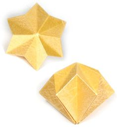 3D six-pointed origami paper star