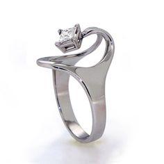 ISIS Solitaire Square Diamond Ring Diamond Ring 14K by arosha