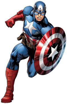 Marvel Hero Captain America Comic Strip Wall Art Sticker Home - Rebels (New Avengers) - Marvel Comics, Marvel Art, Marvel Heroes, Marvel Avengers, Captain America Comic, Capitan America Marvel, Captain America Drawing, Captain America Images, Captain America Tattoo