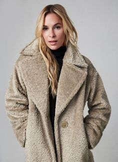 SOSKEN - Teddy Coat, Off White, hi-res