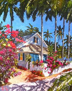Painting oil landscape peter otoole ideas for 2019 Watercolor Landscape, Landscape Paintings, Watercolor Paintings, Watercolors, Caribbean Art, Tropical Art, Beach Art, Summer Art, Watercolor Illustration