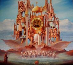 Kot Valeriy, SANDY TEMPLE of TIME, a,rt, painting