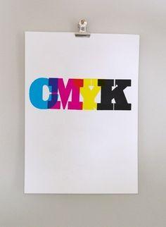 Opeens dacht ik: waarom niet #CMYK? ...