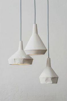 Like paper lamps concrete