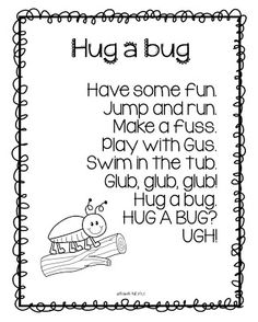 Hug a Bug!?! Freebie :)