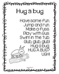 Hug a Bug!?! Freebie :)