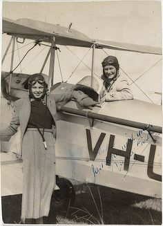 Jocelyn Howarth and Nancy Bird, ca. 1930-33 / by unknown photographer by State Library of New South Wales collection, via Flickr