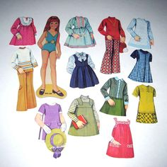paper dolls 1960s | Request a custom order and have something made just for you.