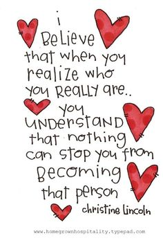 When you realize who you really are....