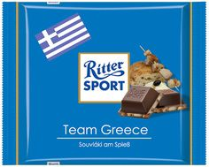 RITTER SPORT Fake Schokolade Team Greece