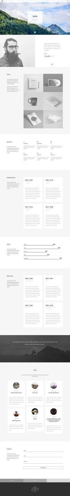 Bodo – is a Professional Responsive Personal and Portfolio Resume Template… Best Portfolio Websites, Site Portfolio, Portfolio Resume, Portfolio Design, Minimal Web Design, Web Ui Design, Resume Design, Graphic Design, Self Branding