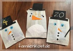Make advent calendars out of sandwich bags with children Hobbies For Kids, Hobbies And Crafts, Hobby Room, Craft Projects For Kids, Christmas Crafts, Christmas Tree, Beautiful Pictures, Presents, Knitting