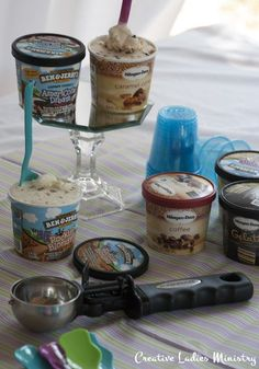 Ice Cream Tasting Party: Made2BCreative.  Has an Ice Cream Tasting free Printable.