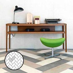 Esittelemme kaikki laattojen ladontamallit | Meillä kotona Office Desk, Tiles, Layout, Flooring, Furniture, Pattern, Home Decor, Room Tiles, Desk Office