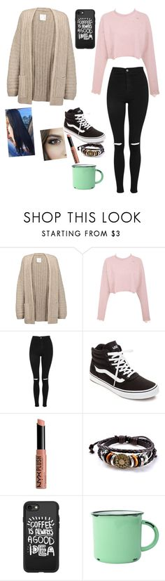 """Coffee date ☕️"" by jno712 ❤ liked on Polyvore featuring Joie, Topshop, Vans, NYX, Casetify and canvas"