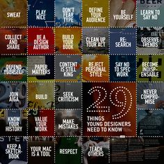 '29 Things Young Designers Need to Know' Poster
