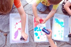 """Just Another Day in Paradise: Project No More """"I'm Bored!"""": Baking Soda Painting"""