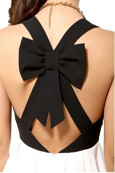 A bow on the back of the dress is cute