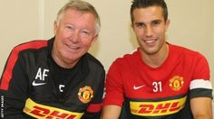 Robin van Persie completes his move from Arsenal to Manchester United, signing a four-year contract. Bbc Home, Van Persie, Sir Alex Ferguson, Sports Headlines, Match Highlights, Live Matches, Tv On The Radio, Soccer Players, Manchester United