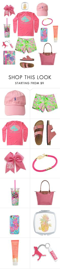 """""""Pretty in Pink (rtd)"""" by kat-lasher ❤ liked on Polyvore featuring Lilly Pulitzer, TravelSmith, Vineyard Vines, Longchamp, Pacifica and Victoria's Secret"""