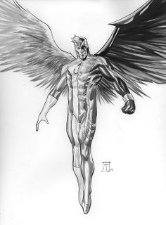 Comics Art, X Men, Marcio Takara, Marciotakara, Marvel Comics, Comics Stuff, Angels Archangel, Awesome Art, Archangel Xmen